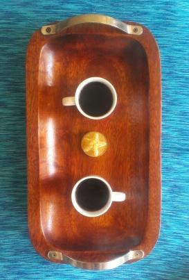 Café para dos en una mañana de enero